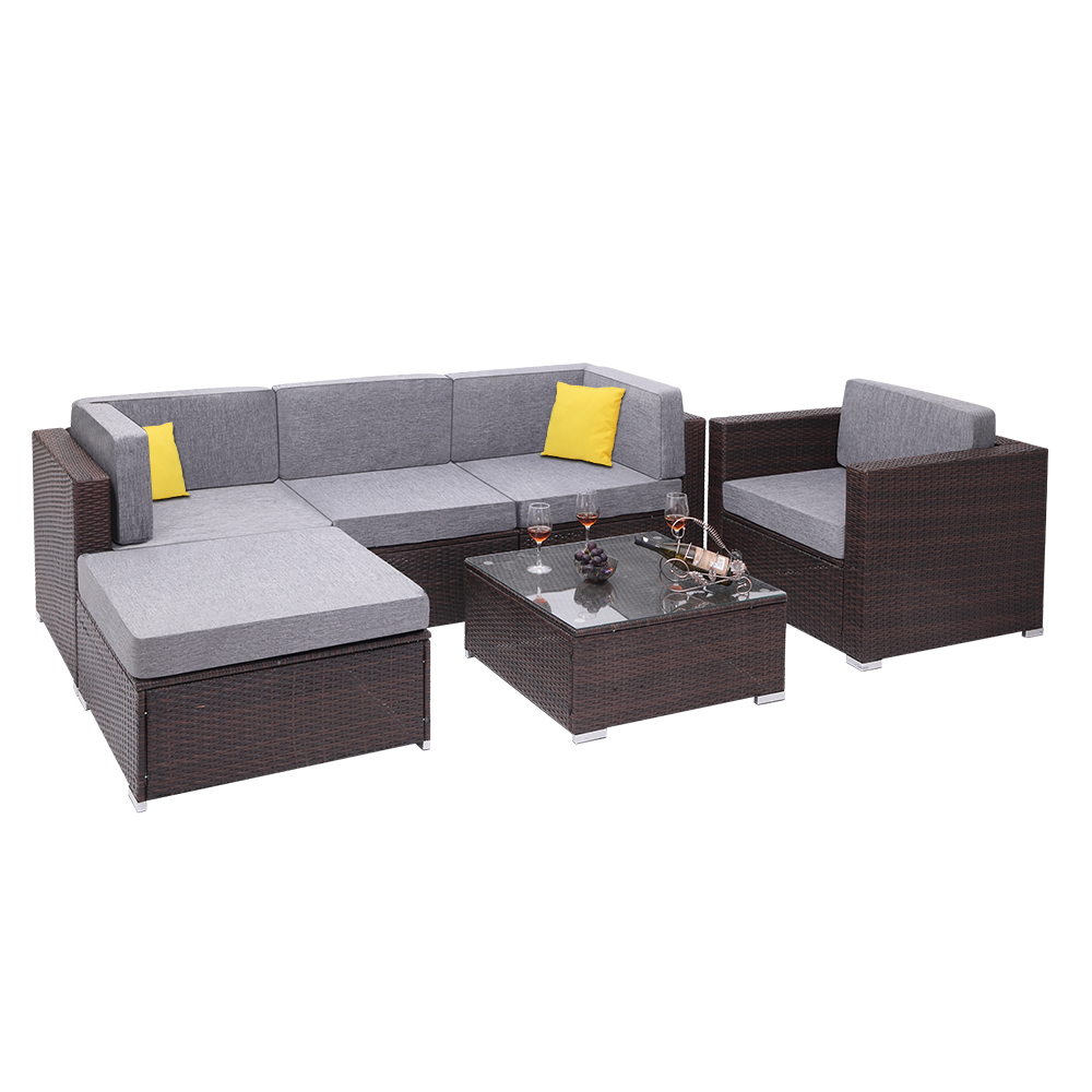 CLEARANCE! Outdoor Wicker Sets on Sale, SEGMART 6 Pieces ...