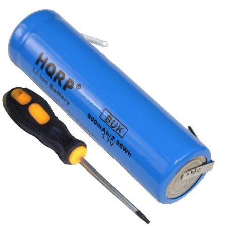 HQRP Battery for Philips Norelco 3.7V Li-Ion 422203612390 3611290 3606410 fits 1050CC 1050X 1059X 8260XL 1280X 1280XCC 1250X 1250XCC 1260X 1290X Razor / Shaver + Screwdriver and Coaster