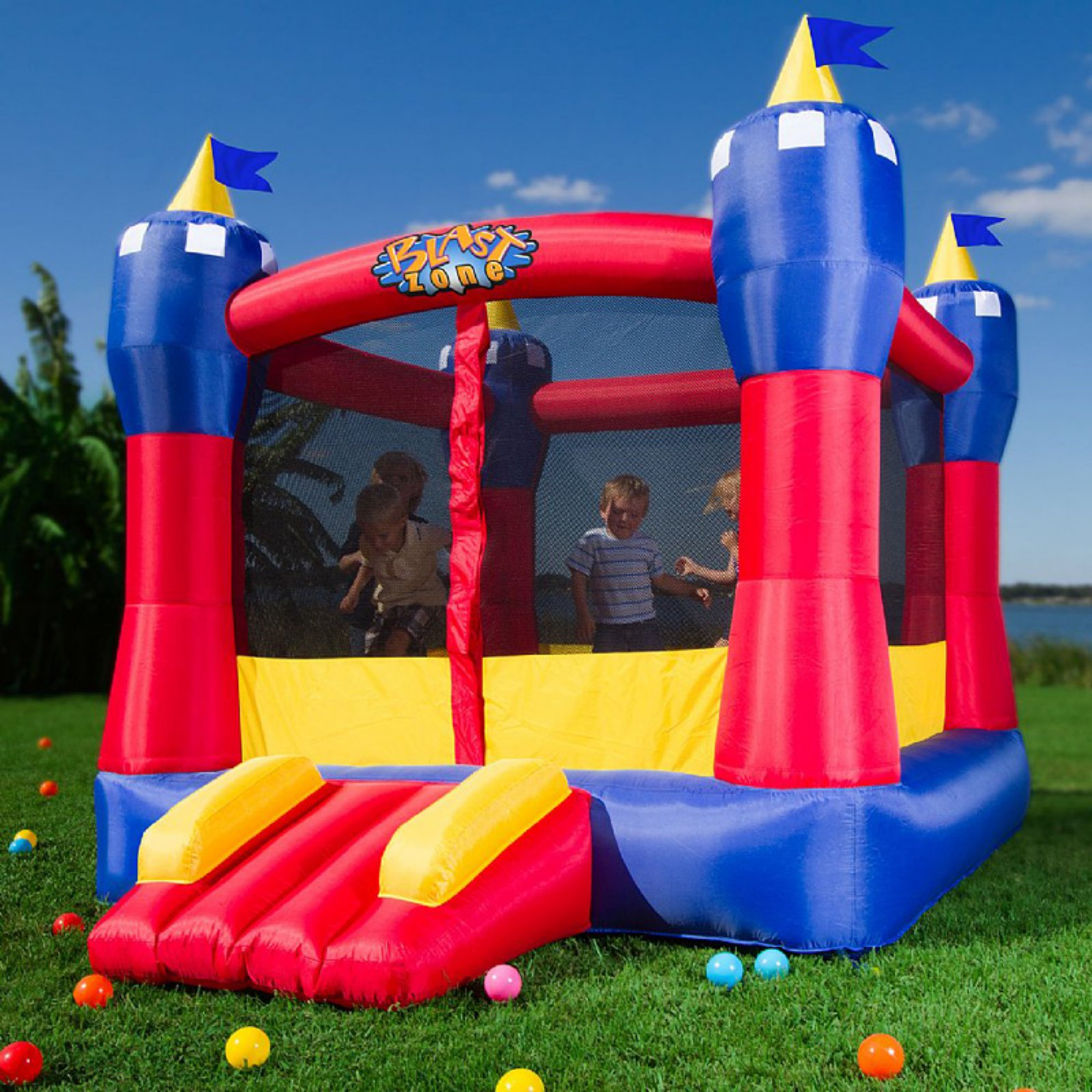 Blast Zone Magic Castle Bounce House by Vortex International Enterprises