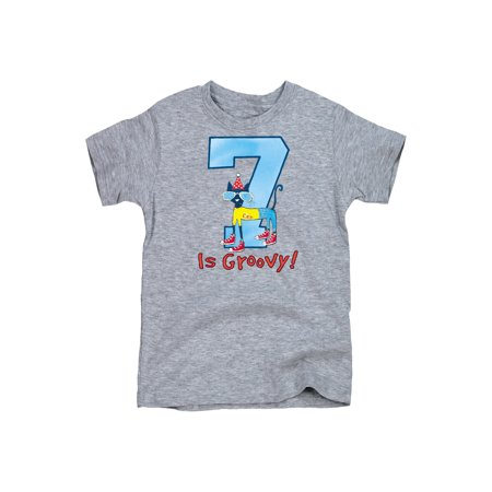 Pete The Cat 7Th Birthday Boys - Youth Short Sleeve -