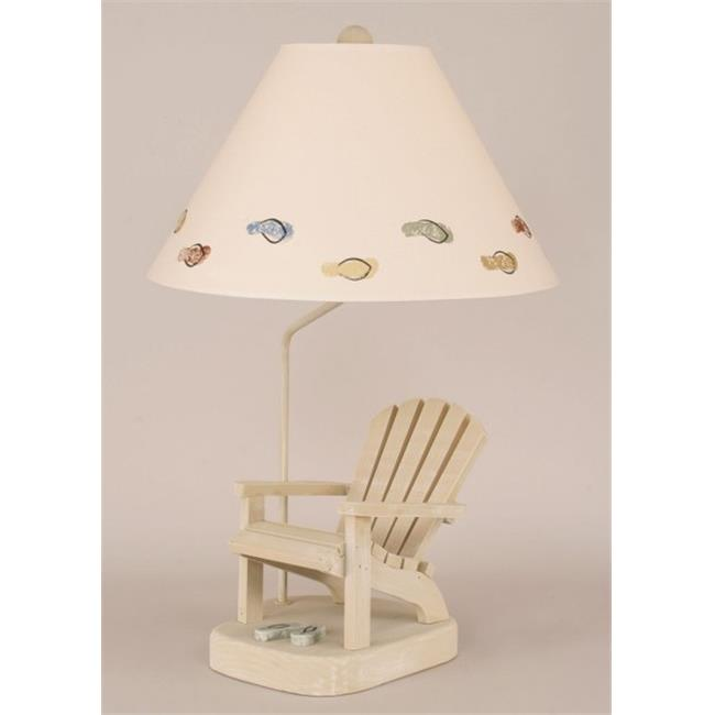Coast Lamp 12-B22F Adirondack Chair with Flip Flops Lamp Weathered Paratan with Sage Accent by Coast Lamp Mfg.