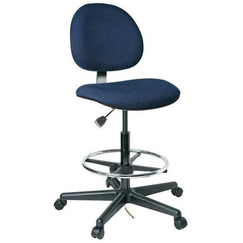 "BEVCO Ergonomic Chair 21"" to 28-1/2""H, Navy, V830SHC"