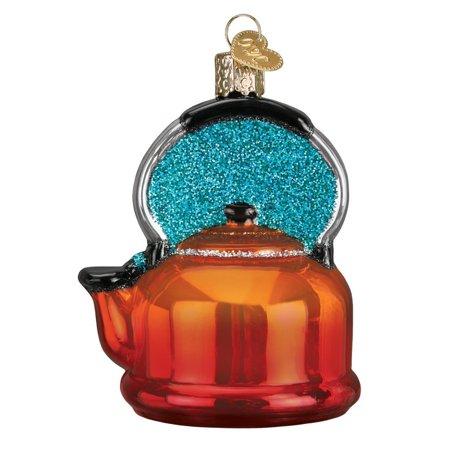 Christmas Tree Tea (Old World Christmas Tea Kettle Glass Tree Ornament Decoration 32349 FREE BOX)