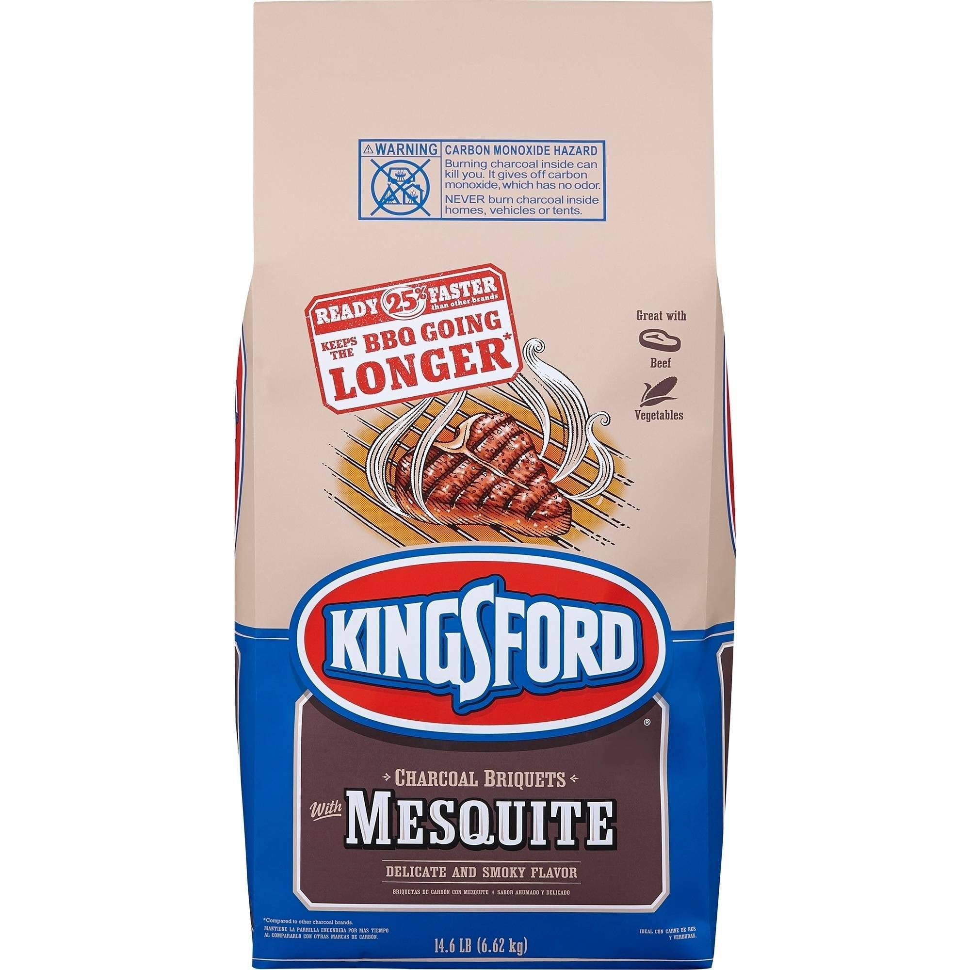 Kingsford Charcoal Briquets, Mesquite, 14.6 lb Bag