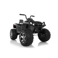12V Ride On Wonderlanes Adventure ATV in Black, Battery Powered