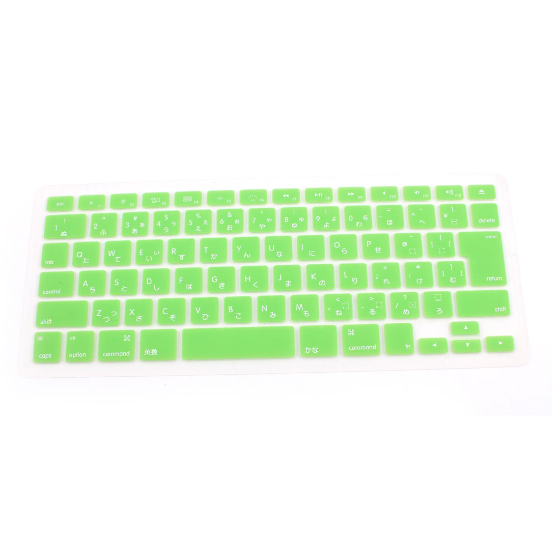 """Unique Bargains Japanese Silicone Keyboard Skin Cover Green for Apple Macbook Air 13""""15""""17"""""""