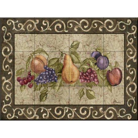 Ceramic Tile Mural - Traditional Fruit I- by Paul Brent - Kitchen backsplash / Bathroom shower - Fruit Kitchen Ceramic Tile