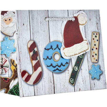 Jillson & Roberts Small Gift Bags, Christmas Cookies (30 Pcs)