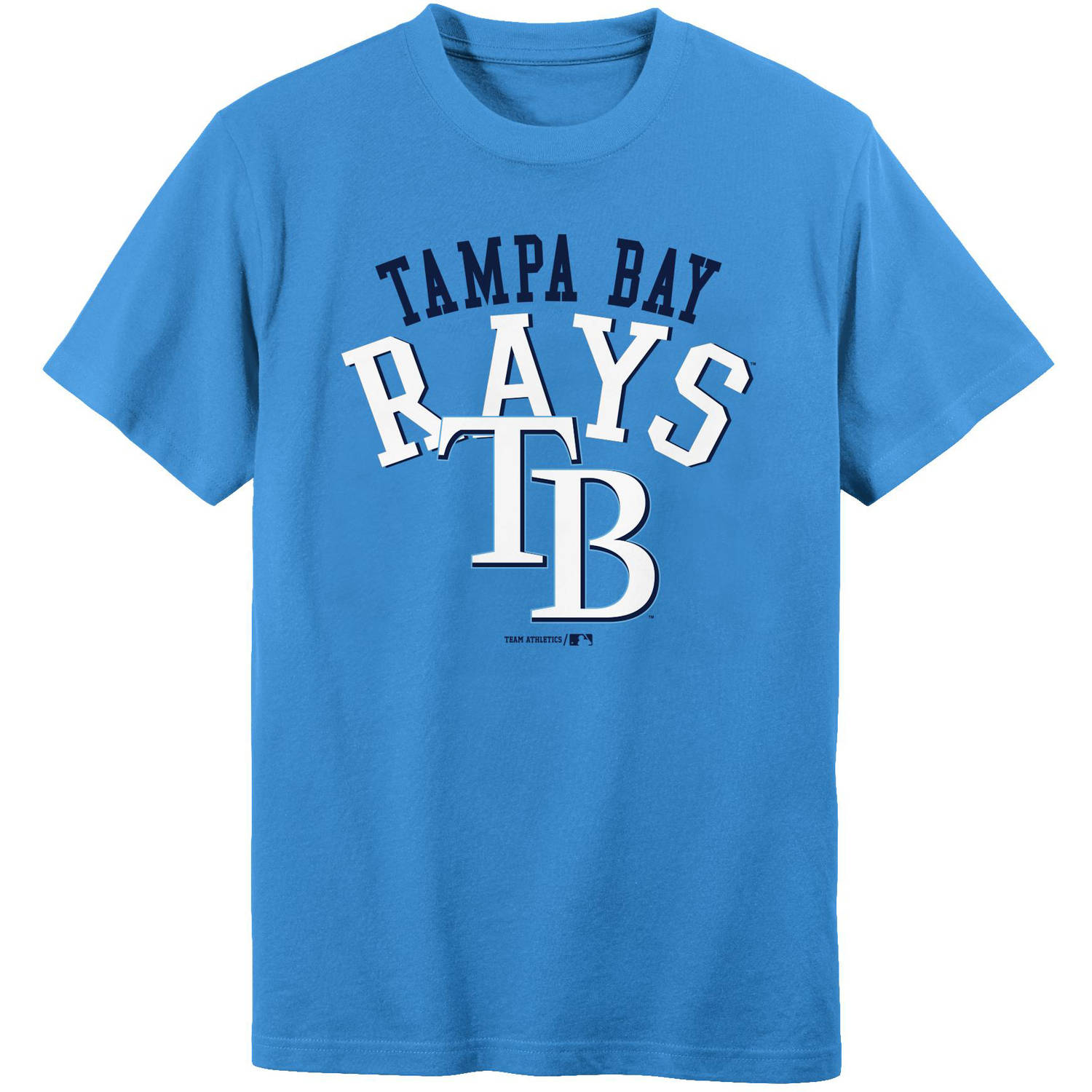 MLB Tampa Bay Rays Boys 4-18 Short Sleeve Alternate Color Tee Team