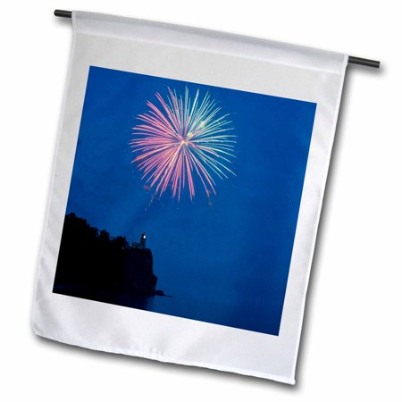 3dRose USA, Minnesota, Two Harbors, Split Rock Lighthouse - US24 PHA0180 - Peter Hawkins - Garden Flag, 12 by 18-inch