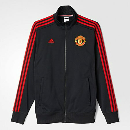 the latest 87a49 bd45d Adidas Mens Climacool Manchester United 3-Stripes Replica Track Jacket  (Large) Black