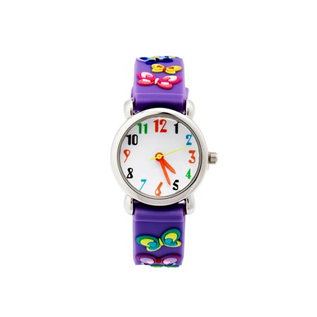 ELEOPTION Waterproof 3D Cute Cartoon Digital Silicone Wristwatches Time Teacher Gift for Little Girls Boy Kids - Halloween Makeup For Kids Witch