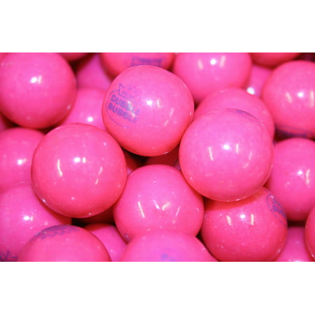 BAYSIDE CANDY GUMBALLS ORIGINAL PINK DUBBLE BUBBLE FLAVOR GUM 25mm or 1 inch , 1LB
