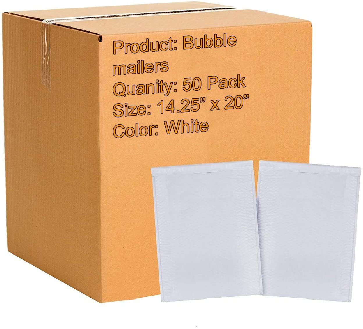 "25 White 14/""x20/"" Tough Mailing Postage Mail Postal Bags"