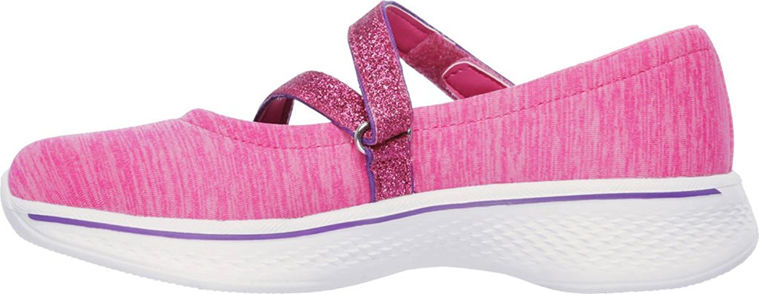 sketchers filles  gowalk 4   gems jane mary jane gems basket, noir ou rose, 4 m c4fbfc