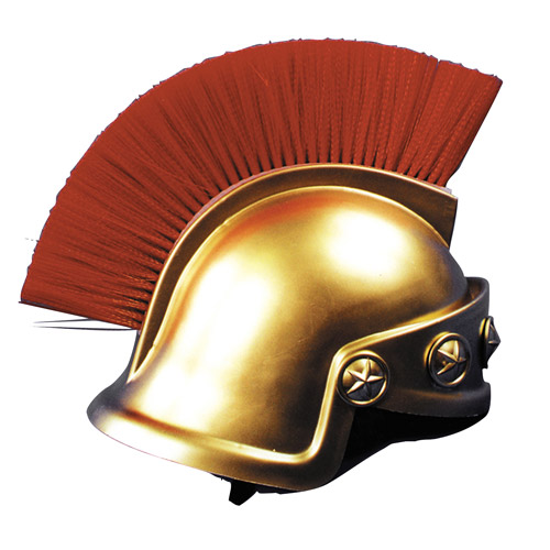 Gold Spartan Helmet Adult Halloween Accessory