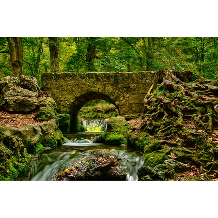 Canvas Print River HDR Bad Urach Landscape Trees Germany Water Stretched  Canvas 10 x 14