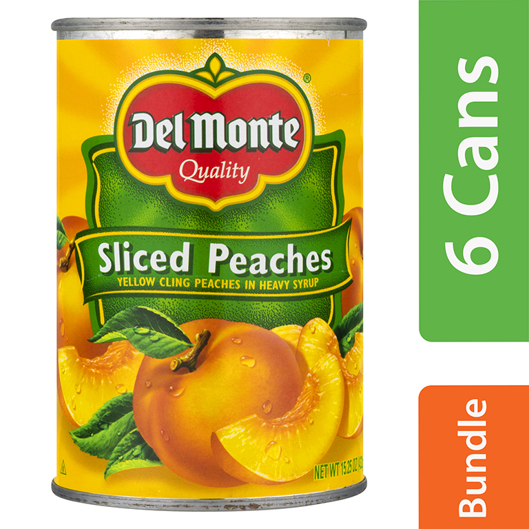 Del Monte Sliced Yellow Cling Peaches, 15.25 oz (6 Packs)