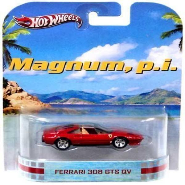Hot Wheels Magnum, P.I. Ferrari 308 GTS QV Die Cast Car by