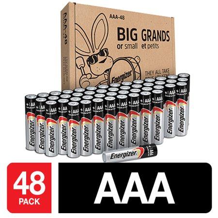 - Energizer Max Powerseal Alkaline AAA Batteries, 48 Pack