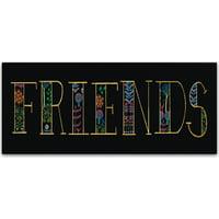 """Trademark Fine Art """"Bright Folklore Friends"""" Canvas Art by Wild Apple Portfolio"""