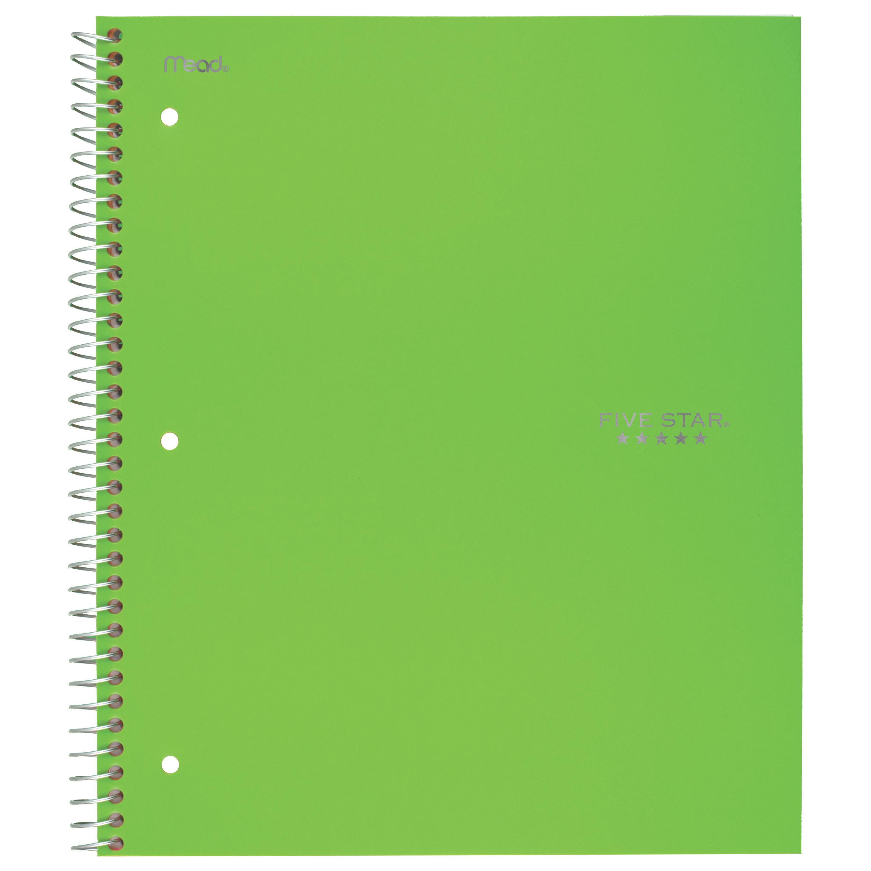 Five Star Trend Wirebound Notebook, 5 Subject, College Ruled, Assorted Colors (06883)