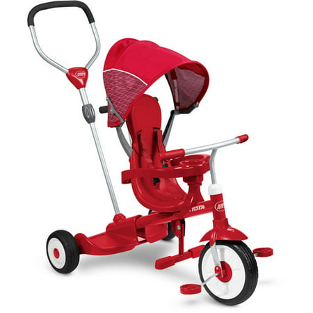 Radio Flyer, Ride & Stand Stroll 'N Trike, Platform for Second Rider, Red - Flyer Flies