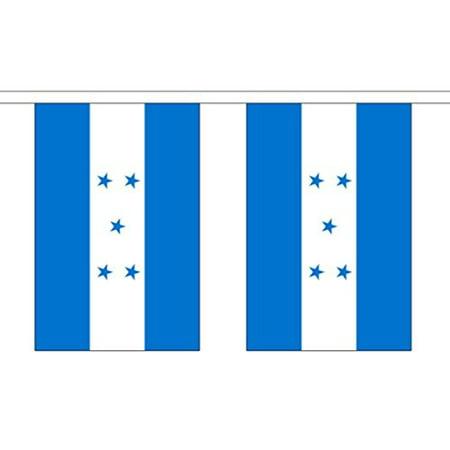 10' Honduras String Flag Party Bunting Has 10 Honduran 6