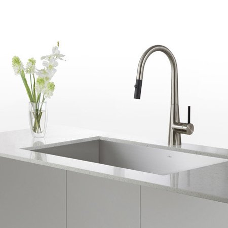 Kraus 31.5 x 18.5 Undermount Stainless Steel Sinks with P...