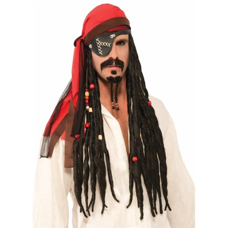 PIRATE HEADSCARF WITH DREADS WIG - Wig Dreads