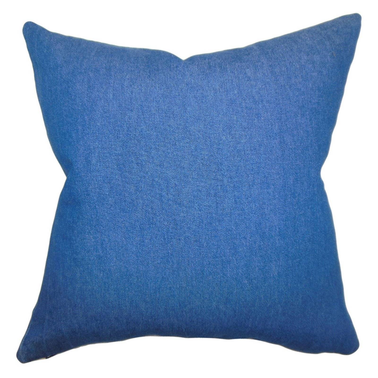 The Pillow Collection Zhoie Solid Pillow - Denim