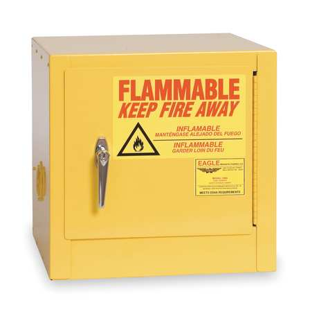 Flammable Safety Cabinet, 2 gal., Yellow EAGLE 1900