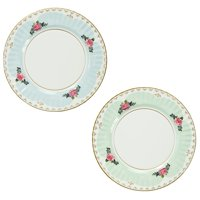 Truly Scrumptious Large Pastel Dinner Paper Plates for a Tea Party, Wedding or Birthday, Blue/Green (8 Pack), From US,Brand generic