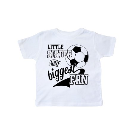 91eaa696af856 Inktastic - Little Sister and Biggest Fan- soccer player Toddler T-Shirt -  Walmart.com