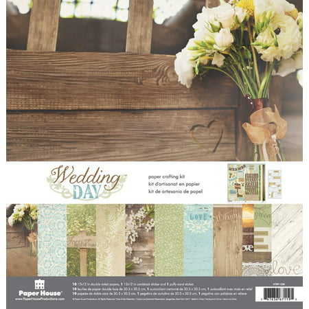 Paper House Productions Wedding Day - Paper Crafting Kit (Paper House Kit)