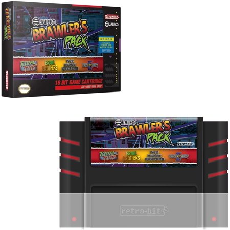 Retro-Bit Jaleco Brawler's Pack SNES Cartridge: Brawl Brothers, The Peace Keepers, Rival Turf, & Tuff E Nuff Officially Licensed by (Best Snes Adventure Games)