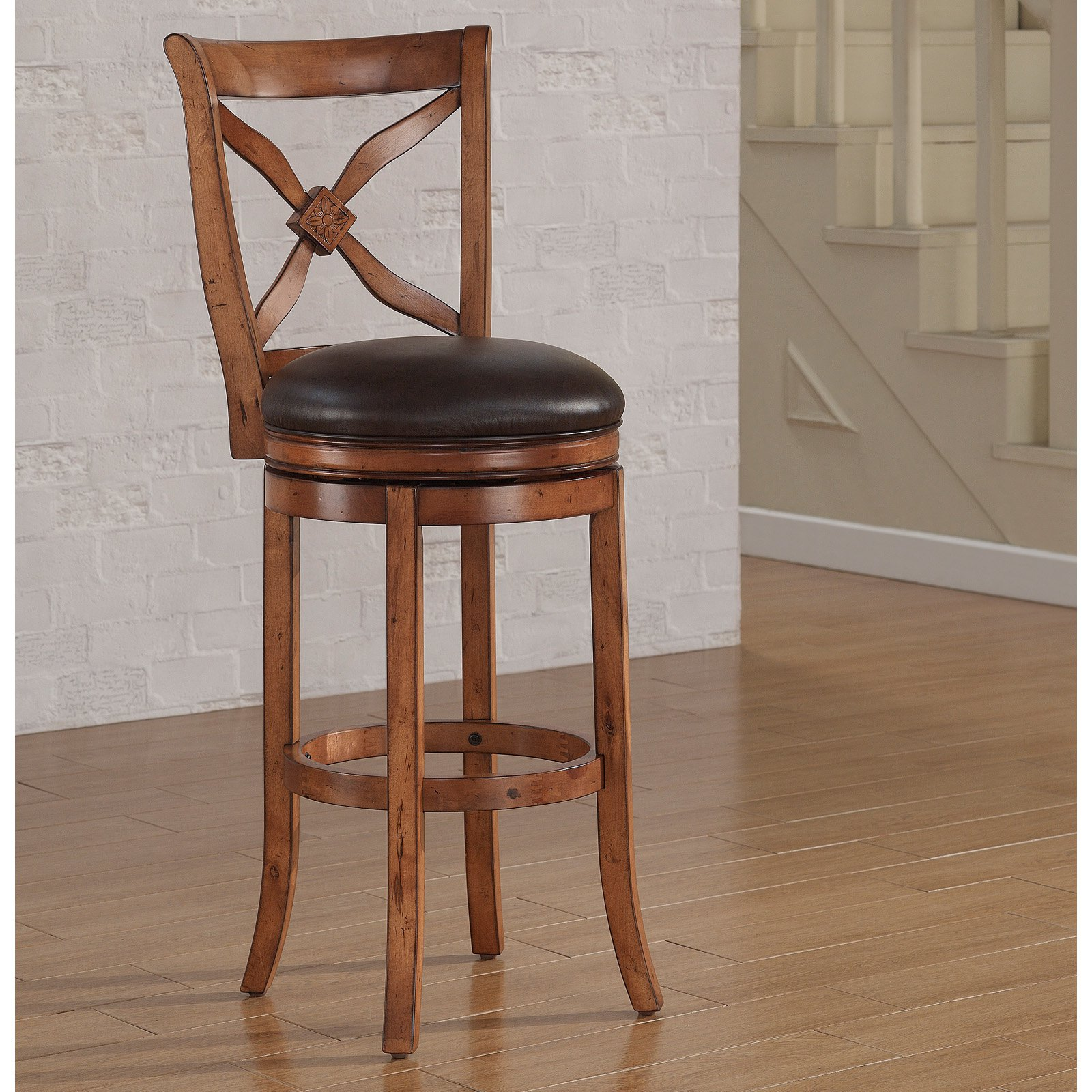 American Woodcrafters Provence Extra Tall Bar Stool Light Oak