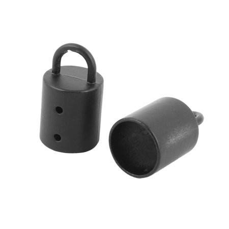Metal Control Replacement Bolt Stanchion Pole Barrier Rope Hook Black