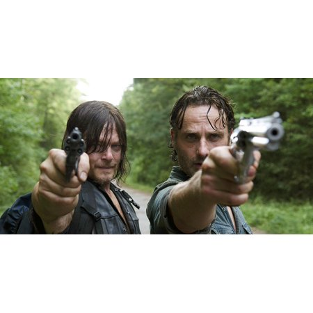 The Walking Dead TWD Daryl Rick Grimes Edible Image Photo Sugar Frosting Icing Cake Topper Sheet Birthday Party - 1/4 Sheet - 73795 - Walking Dead Cakes