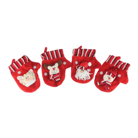 10-Piece Red Classics Christmas Stocking and Novelty Gift Bag Set - Novelty Christmas Gifts
