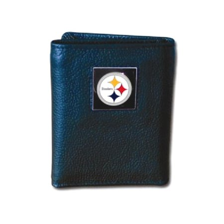 Nfl Steelers Tri Fold Wallet Man Gift For Dad Mens For Him mothers day gifts mom wife (Steeler Gift)