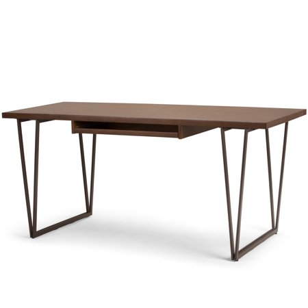 Brooklyn + Max Alto Solid Wood Modern 66 inch Wide Writing Office Desk in Natural Aged Brown