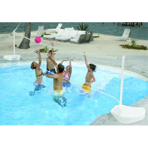 Dunnrite WaterVolly Portable Swimming Pool Volleyball Set