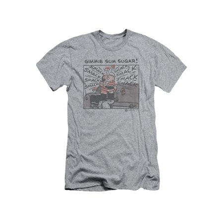 Popeye The Sailor Man Gimmie Sum Sugar Popeye & Olive Oil Adult Slim T-Shirt (Popeye And Olive Oyl Costumes For Adults)