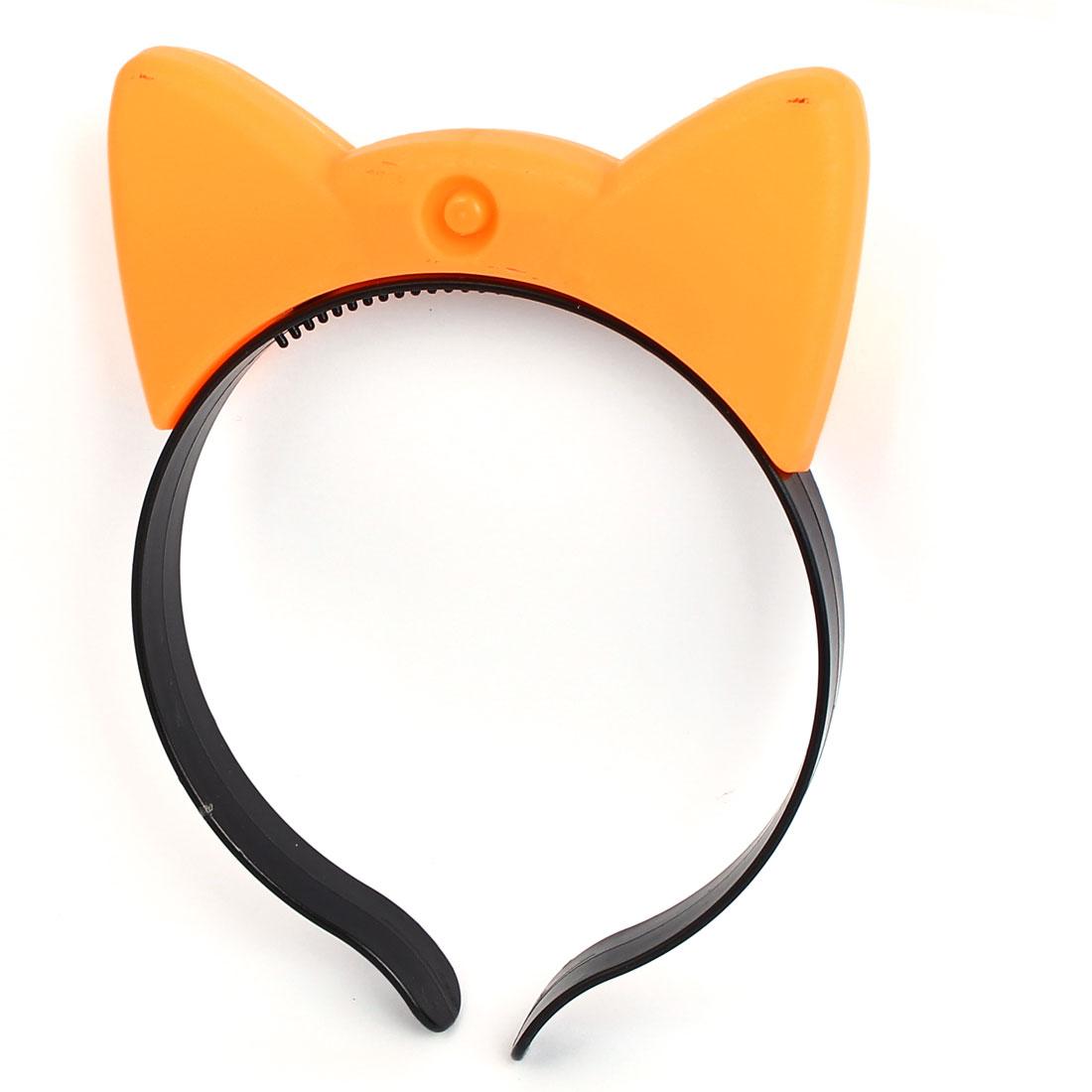 Cosplay Flash  Cat Ear Light Blinking Hair Band Hairband Headband Orange - image 1 de 3