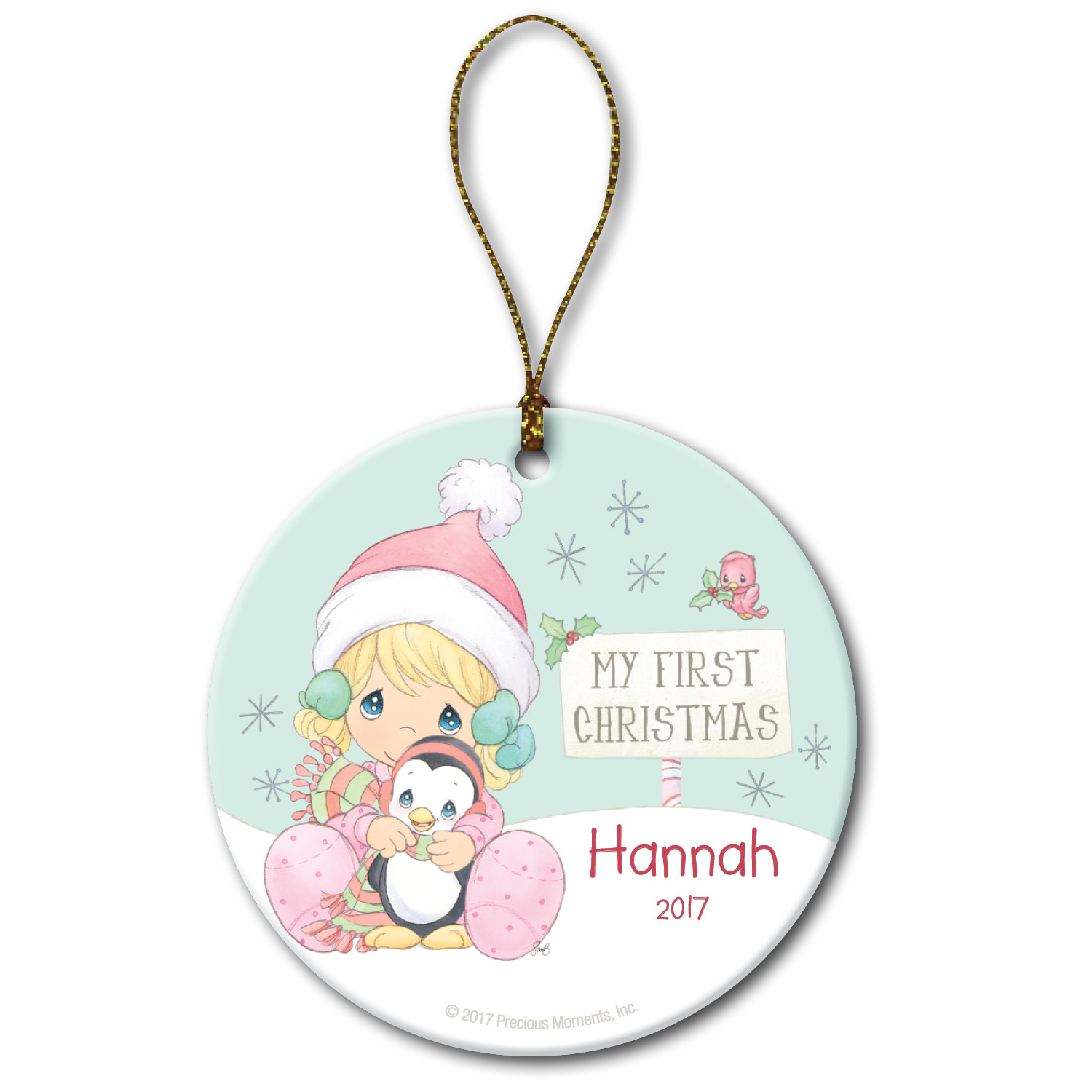 Personalized Precious Moments Christmas Ornament - Her First Christmas