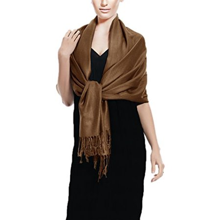 5a35b17206e Peach Couture Soft and Silky Bamboo Rayon Pashmina Feel Shawl Scarf ...