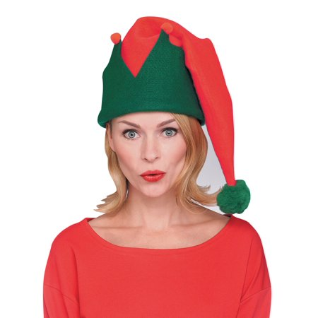 Buddy Elf Hat (Adult Red And Green Long Elf)