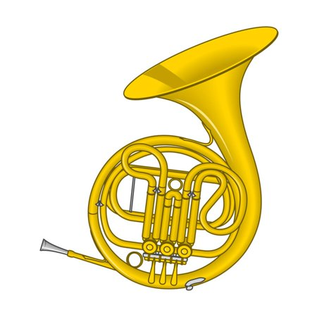 - French Horn, Brass, Musical Instrument Print Wall Art By Encyclopaedia Britannica