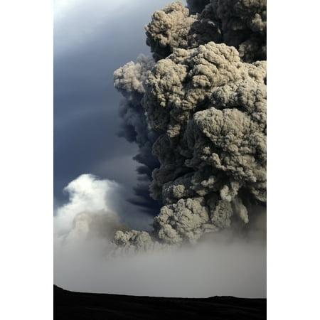 Eyjafjallajokull Eruption Iceland Canvas Art   Martin Rietzestocktrek Images  23 X 34
